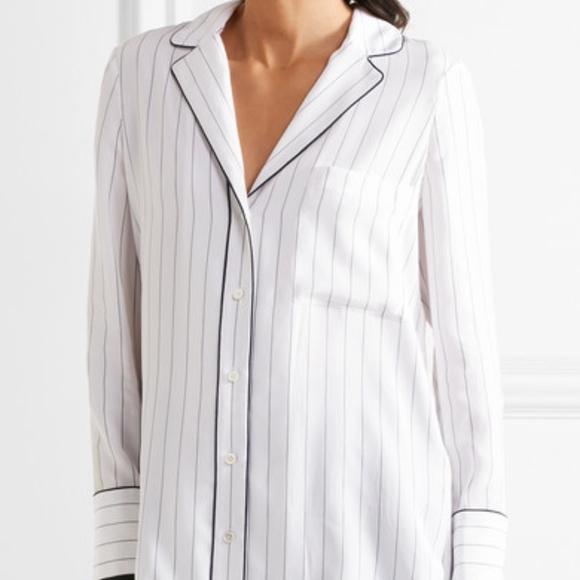 d94c213f246630 Frame Denim Tops - FRAME Denim Striped Silk Shirt